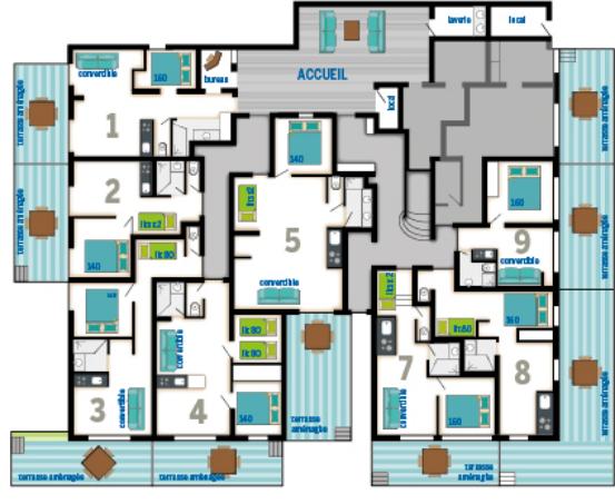 Plan de la résidence - rez-de-chaussée